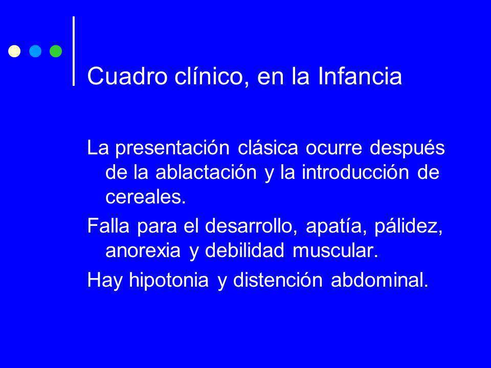 Cuadro clínico, en la Infancia