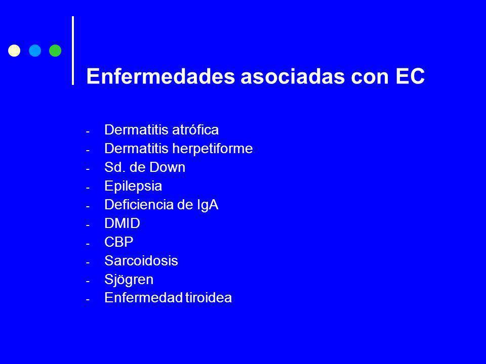 Enfermedades asociadas con EC