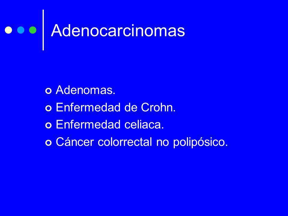 Adenocarcinomas Adenomas. Enfermedad de Crohn. Enfermedad celiaca.