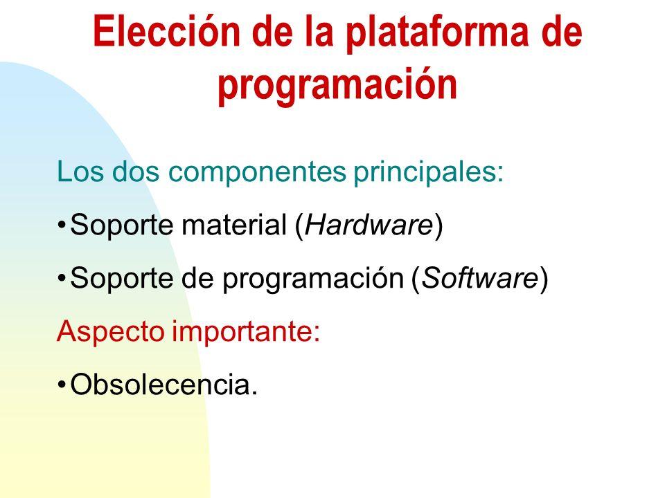 Elección de la plataforma de programación