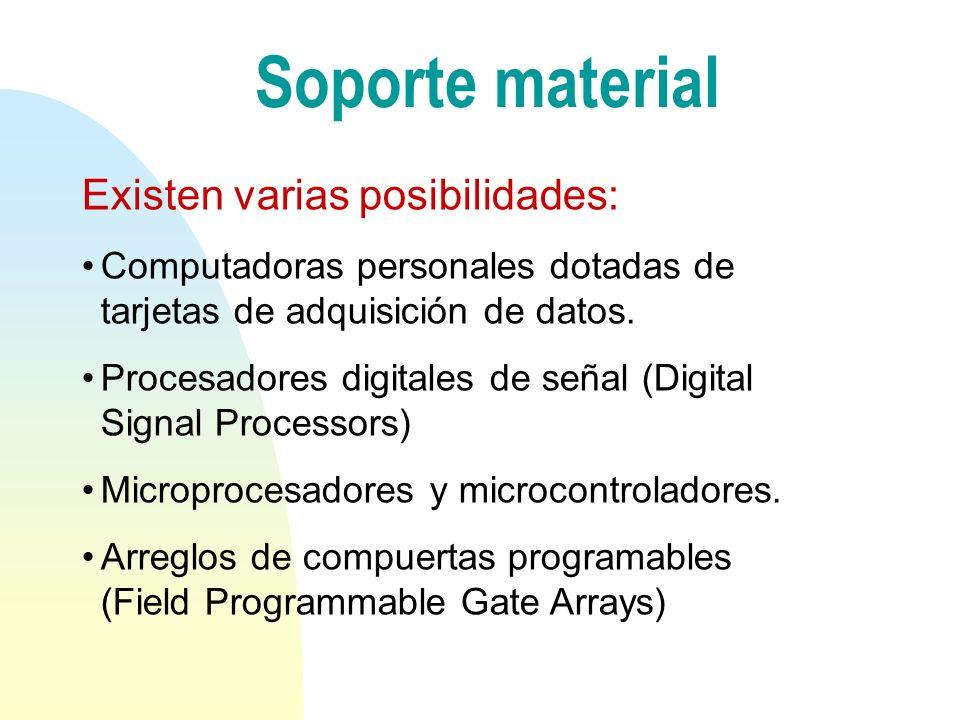 Soporte material Existen varias posibilidades: