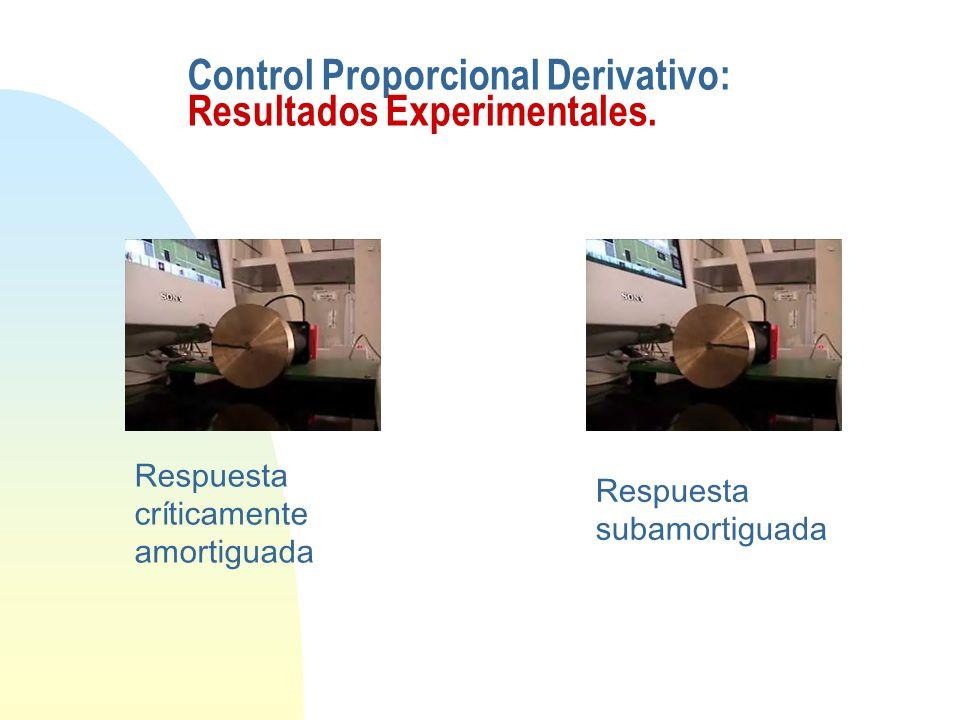 Control Proporcional Derivativo: Resultados Experimentales.