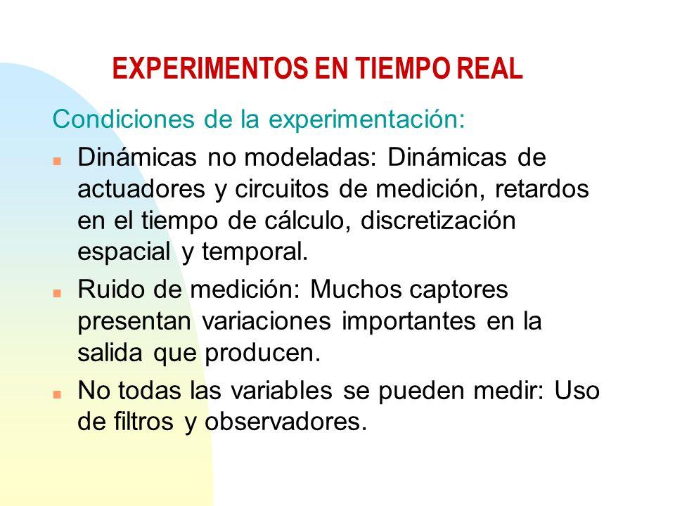 EXPERIMENTOS EN TIEMPO REAL
