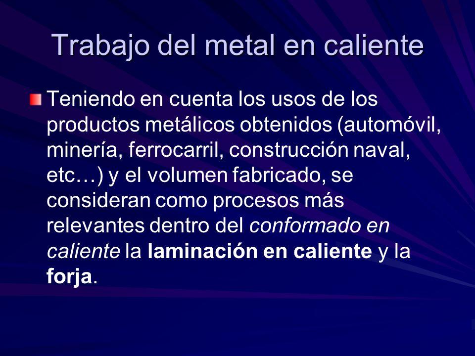 Trabajo del metal en caliente