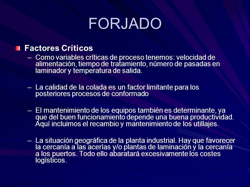 FORJADO Factores Críticos
