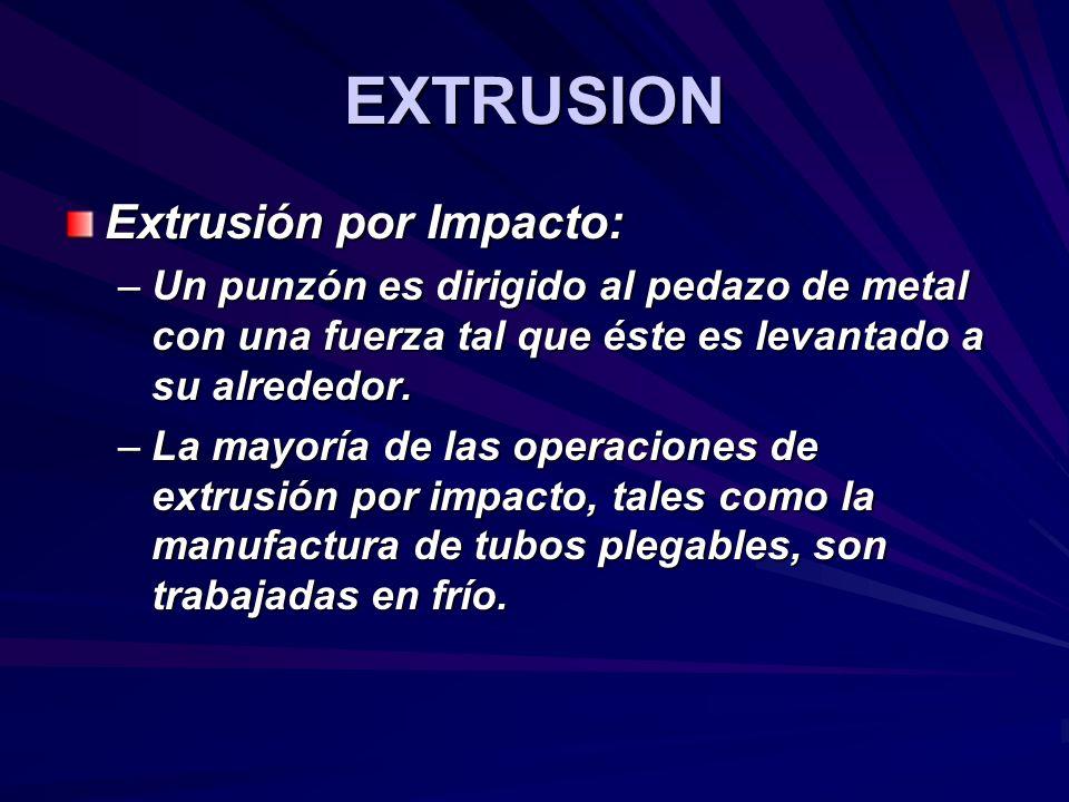 EXTRUSION Extrusión por Impacto: