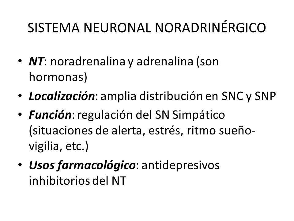 SISTEMA NEURONAL NORADRINÉRGICO