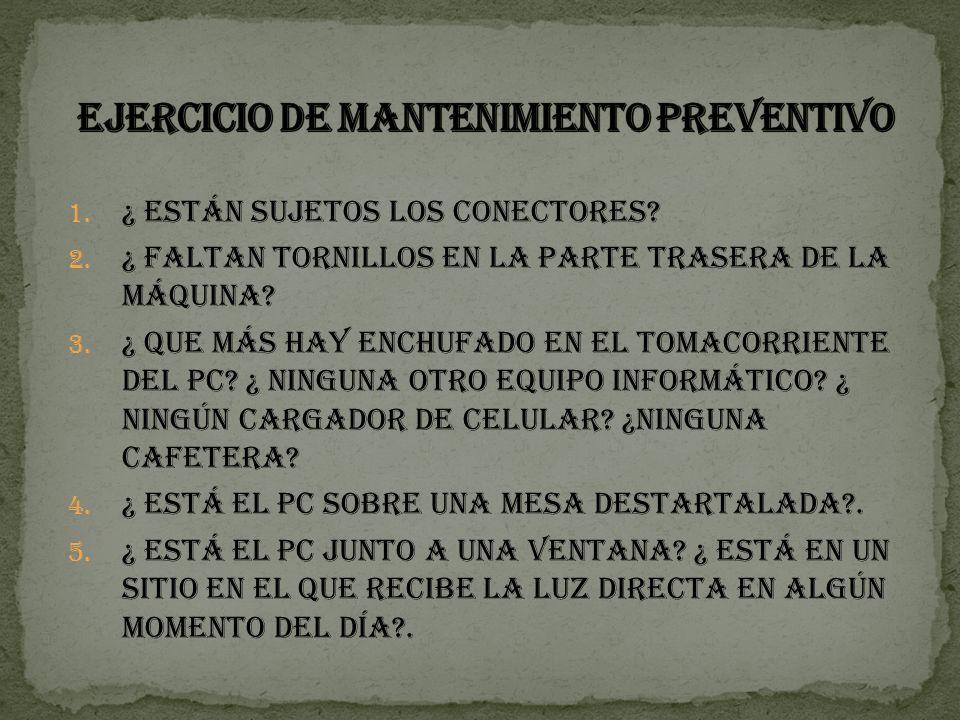 EJERCICIO DE MANTENIMIENTO PREVENTIVO