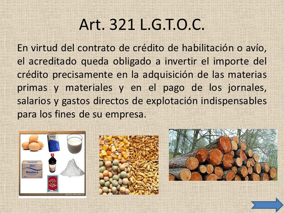 Art. 321 L.G.T.O.C.