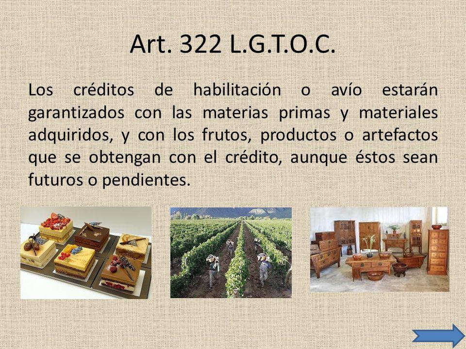 Art. 322 L.G.T.O.C.