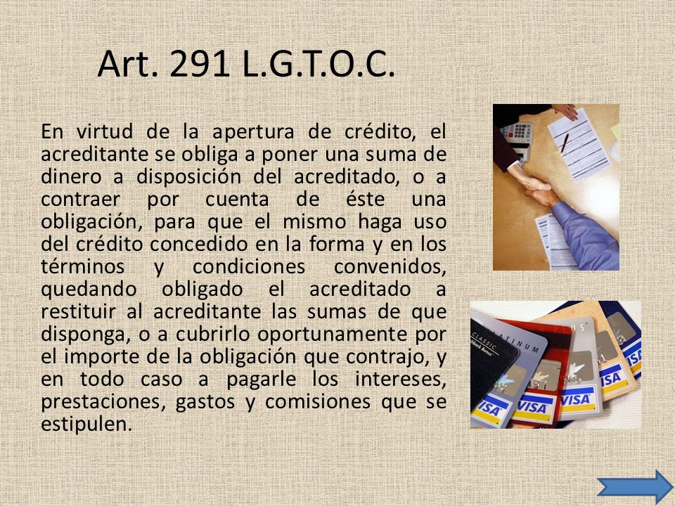 Art. 291 L.G.T.O.C.