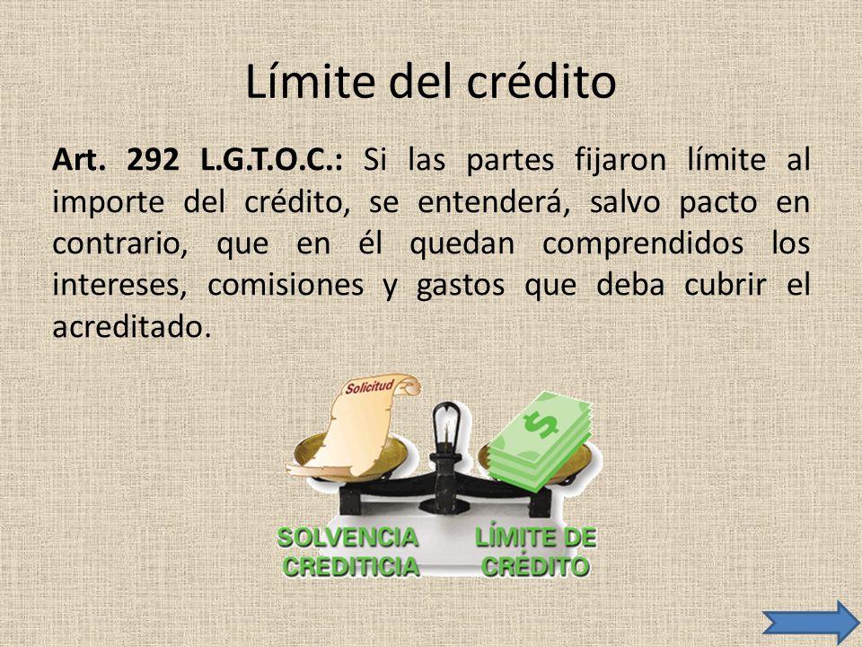 Límite del crédito