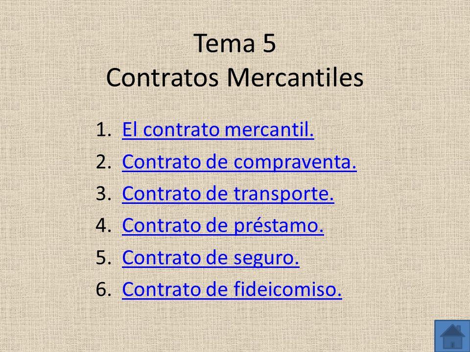 Tema 5 Contratos Mercantiles