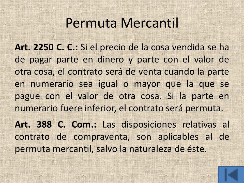 Permuta Mercantil
