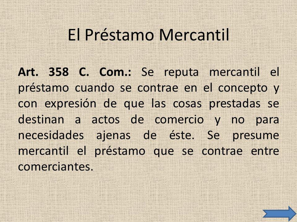 El Préstamo Mercantil
