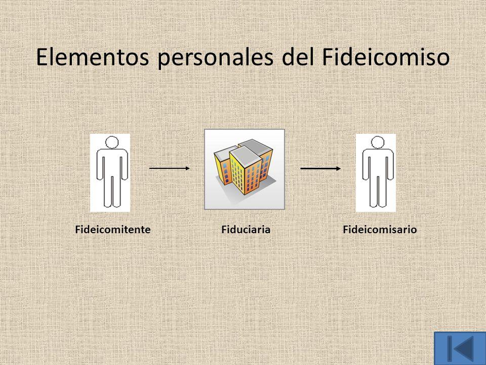 Elementos personales del Fideicomiso