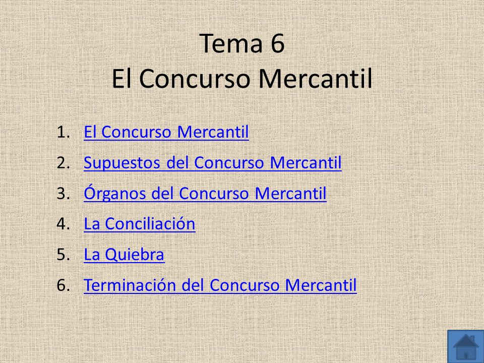Tema 6 El Concurso Mercantil