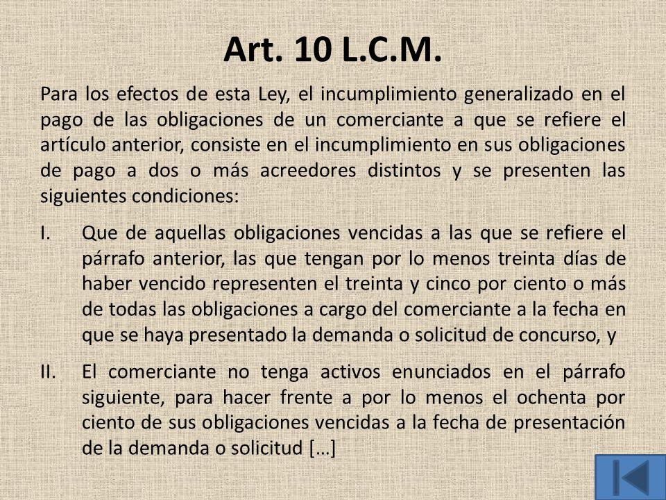 Art. 10 L.C.M.