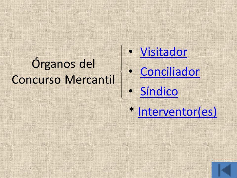 Órganos del Concurso Mercantil
