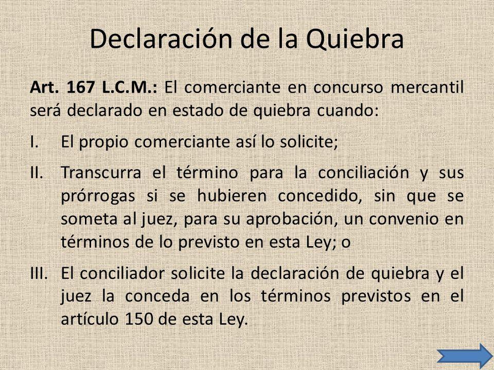 Declaración de la Quiebra