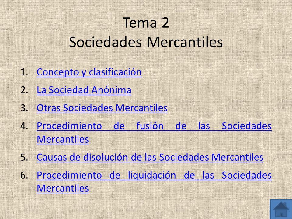 Tema 2 Sociedades Mercantiles