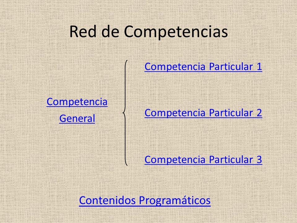 Red de Competencias Contenidos Programáticos Competencia Particular 1