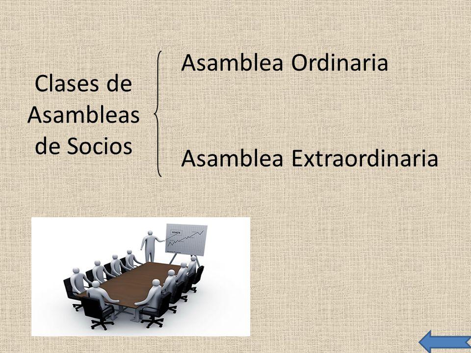 Clases de Asambleas de Socios