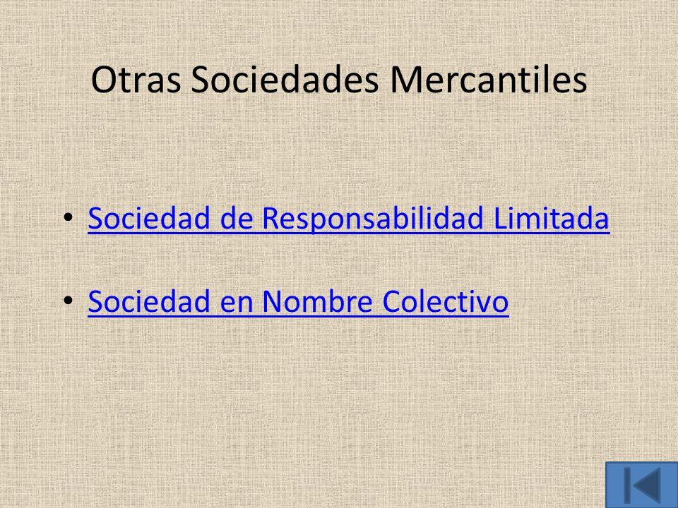 Otras Sociedades Mercantiles
