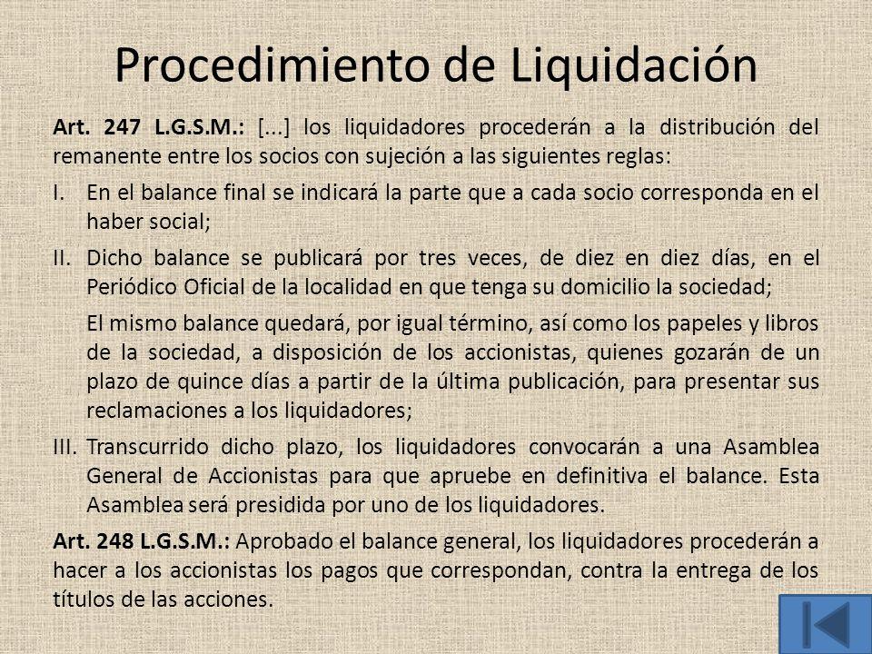 Procedimiento de Liquidación