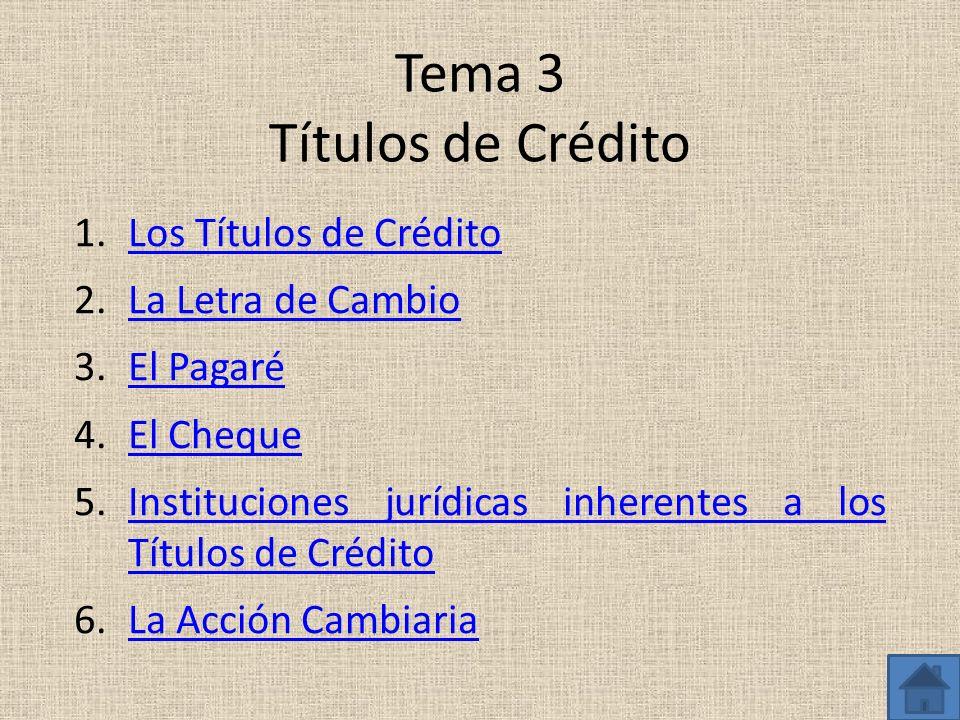 Tema 3 Títulos de Crédito