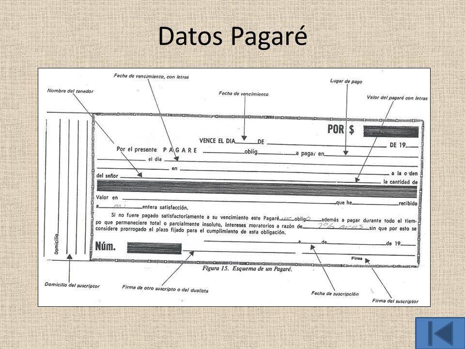 Datos Pagaré