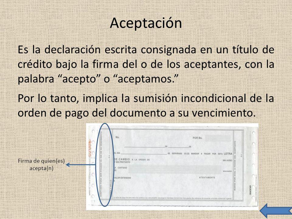 Firma de quien(es) acepta(n)