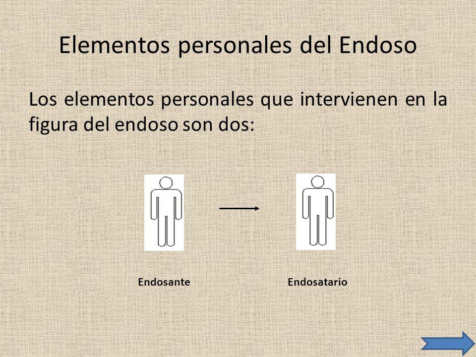 Elementos personales del Endoso