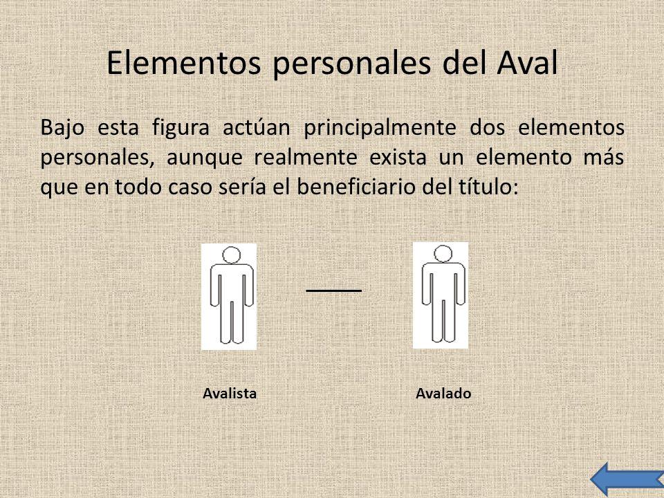 Elementos personales del Aval