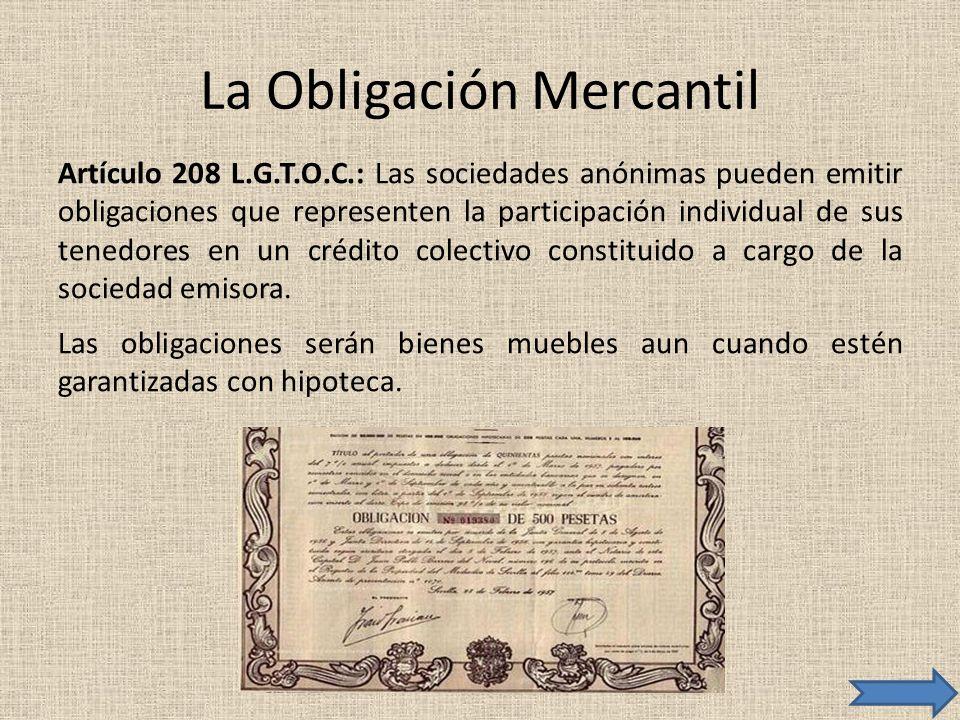 La Obligación Mercantil