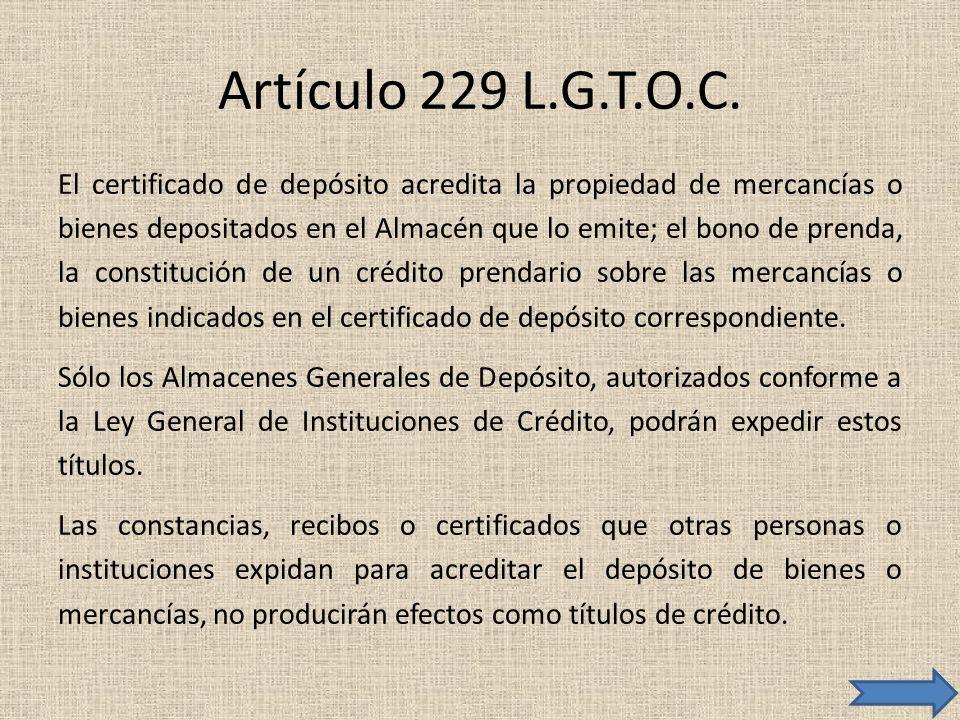 Artículo 229 L.G.T.O.C.