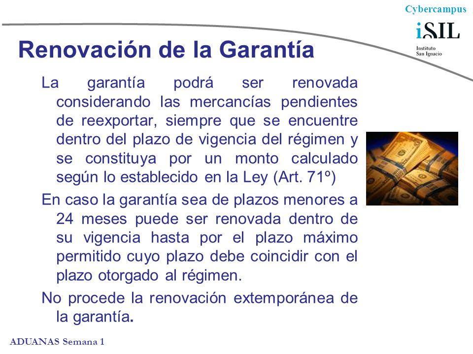 Renovación de la Garantía