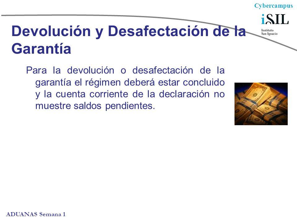 Devolución y Desafectación de la Garantía