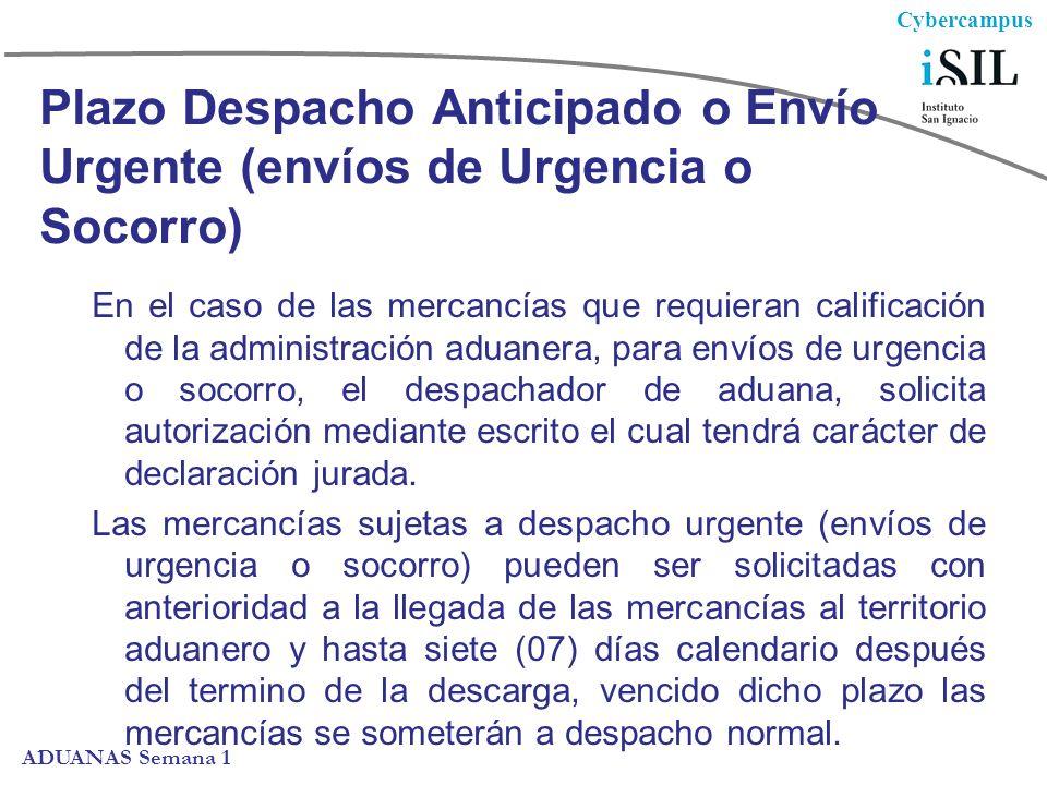Plazo Despacho Anticipado o Envío Urgente (envíos de Urgencia o Socorro)