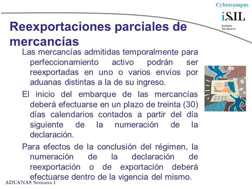 Reexportaciones parciales de mercancías