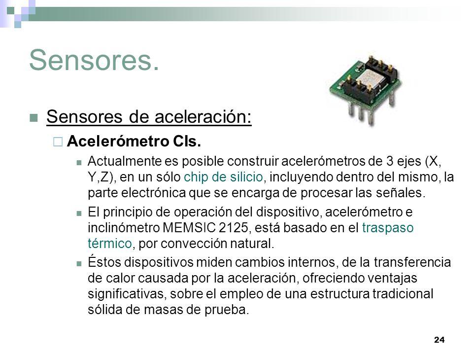 Sensores. Sensores de aceleración: Acelerómetro CIs.