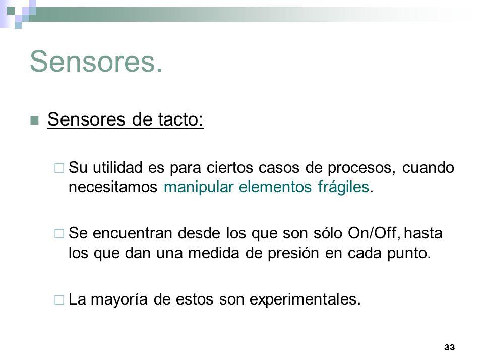 Sensores. Sensores de tacto: