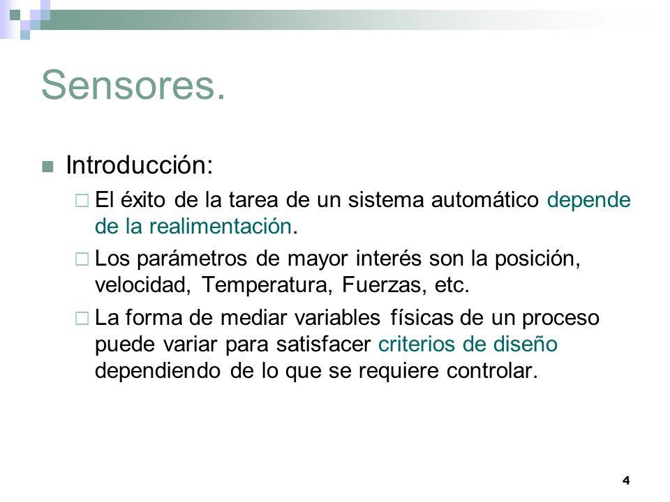 Sensores. Introducción: