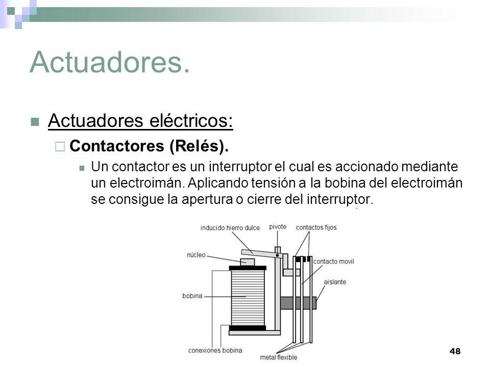 Actuadores. Actuadores eléctricos: Contactores (Relés).