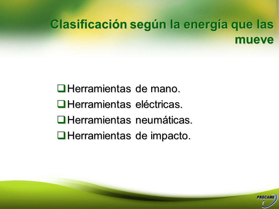 Clasificación según la energía que las mueve