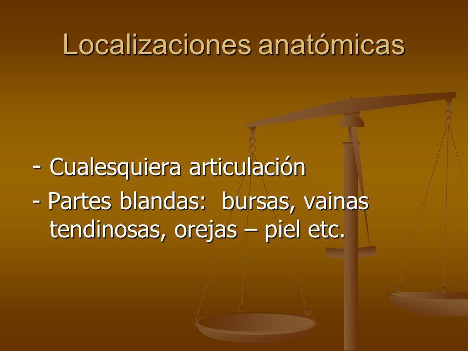 Localizaciones anatómicas