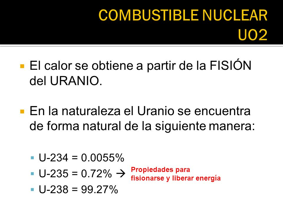 COMBUSTIBLE NUCLEAR UO2