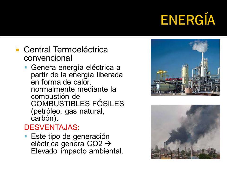 ENERGÍA Central Termoeléctrica convencional
