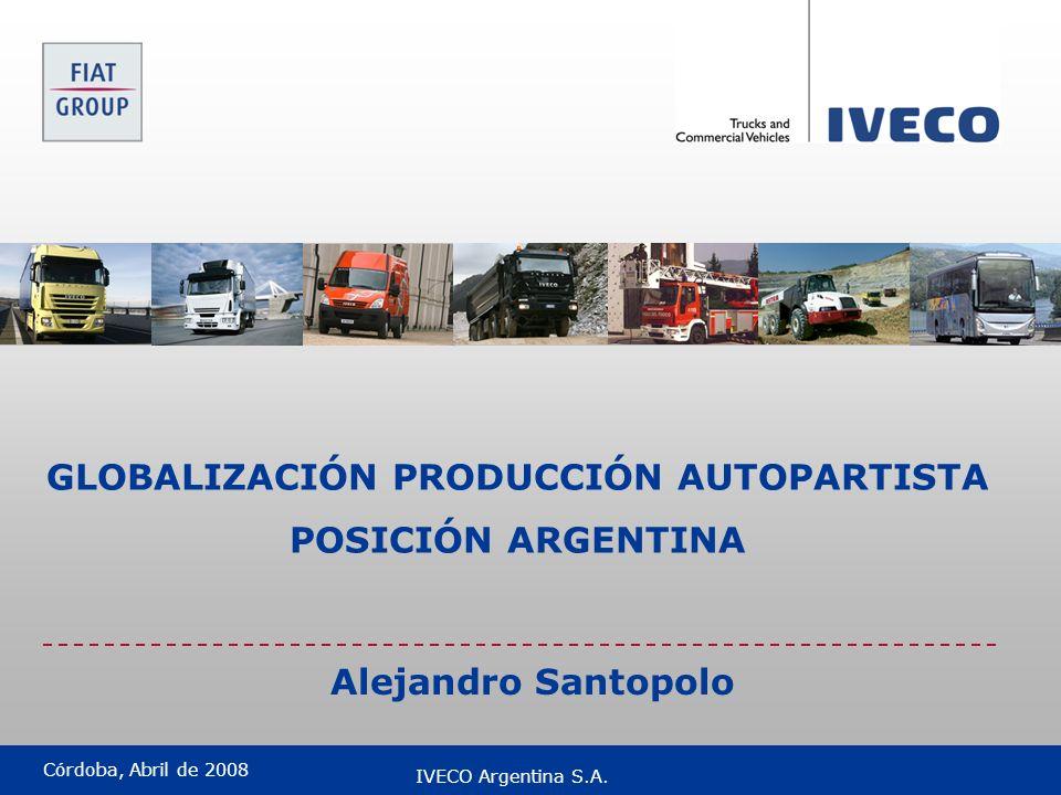 GLOBALIZACIÓN PRODUCCIÓN AUTOPARTISTA
