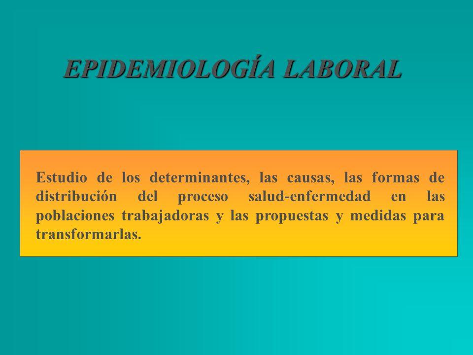 EPIDEMIOLOGÍA LABORAL